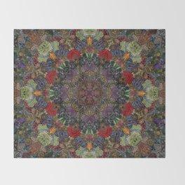 Hallucination Mandala 3 Throw Blanket
