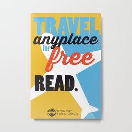 Travel - Iowa City Public Library Metal Print