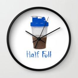 Half Full Wall Clock