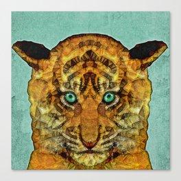 abstract tiger cub Canvas Print