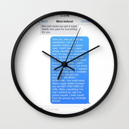 SHANGELA SUGAR DADDY TEXT Wall Clock