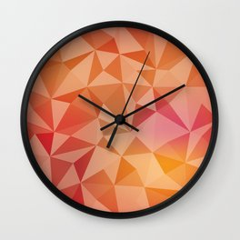 Geometric pyramids Wall Clock