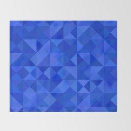 Blue pyramids Throw Blanket