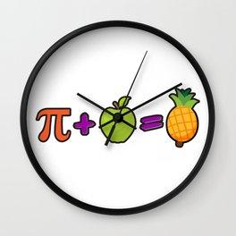 Pineapple Pi Science Geek Mathematics Symbol Humor Wall Clock