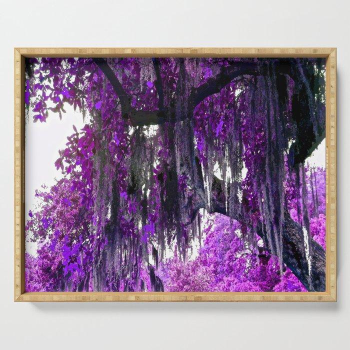 Trees Purple Moss Serving Tray