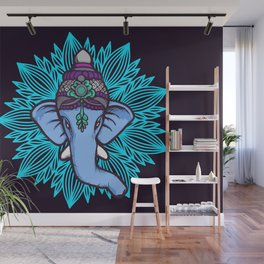 Wise Elephant Ganesha Mandala Wall Mural