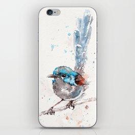 Mischief In The Making (Variegated Fairy Wren) iPhone Skin