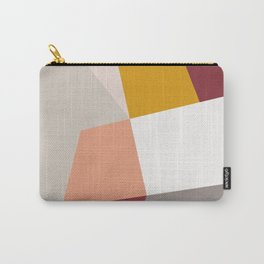 Abstract Geometric 27 Red Carry-All Pouch