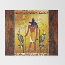 Anubis the egyptian god Throw Blanket
