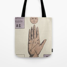 Vintage French Moon Tarot Card Tote Bag