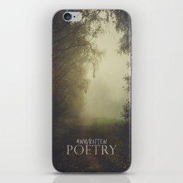Unwritten poetry iPhone Skin
