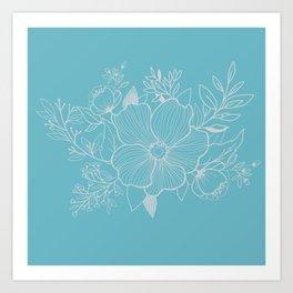Anemone teardrops Art Print