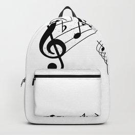 Vintage Music Treble Clef Backpack