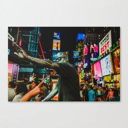 Men in TimeSquare Canvas Print