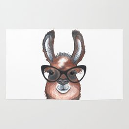 Hipster Llama Rug