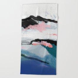 snow mountain Beach Towel