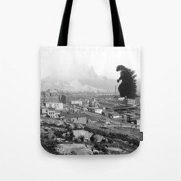 Old Time Godzilla Tote Bag