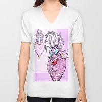 ursula V-neck T-shirts featuring Ursula by grapeloverarts