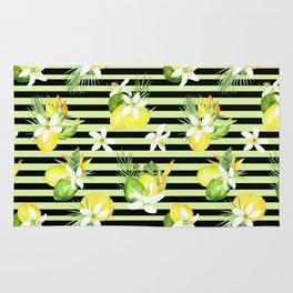 watercolor seamless pattern fresh summer Rug