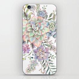 succulent watercolor 8 iPhone Skin