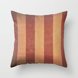 Vintage red striped deck chair cover Throw Pillow