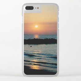 Sunset Ocean Bliss #1 #nature #art #society6 Clear iPhone Case