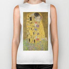 The Kiss by Gustav Klimt Biker Tank