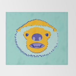 F*cking Rebels series: Honey Badger Throw Blanket