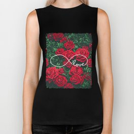 Red Roses Photography & Infinity Love Sign Biker Tank