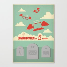 Communication in Five Years Canvas Print