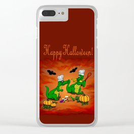 Today I will cook , Dragons - Happy Halloween ! Clear iPhone Case