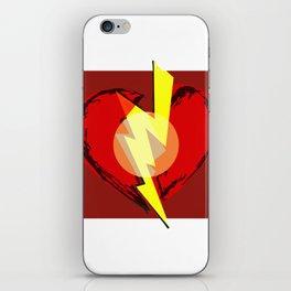 Broken heart iPhone Skin