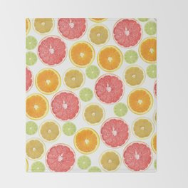 Citrus Love Throw Blanket