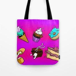 Exploding Desserts Tote Bag