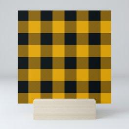 Yellow & Black Buffalo Plaid Mini Art Print