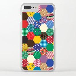 Hexagonal Patchwork Clear iPhone Case