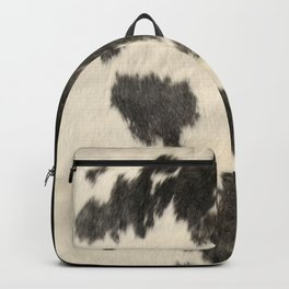 Black & White Cow Hide Backpack