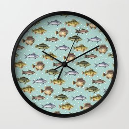 Watercolor Fish Wall Clock