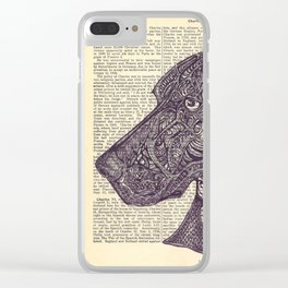 Catahoula Doodle Clear iPhone Case