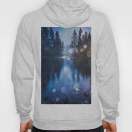 Magical Blue Forest Water Reflection - Nature Photography Hoody