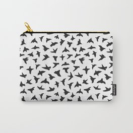 Flock of Birds // black Carry-All Pouch