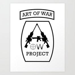 Art of War Logo Art Print