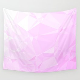 Low Poly Pink Ombre Wall Tapestry