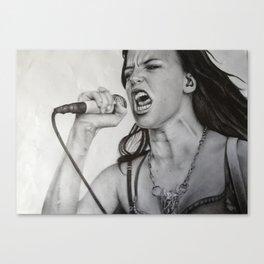 Lzzy Hale fan art Canvas Print