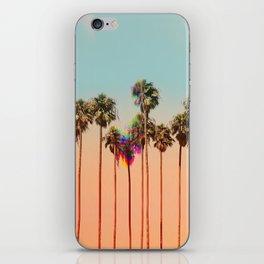 Glitch beach iPhone Skin