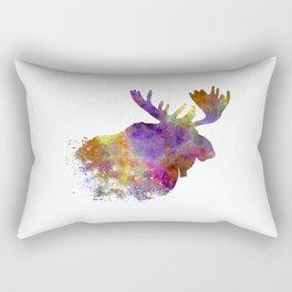 Moose 04 in watercolor Rectangular Pillow