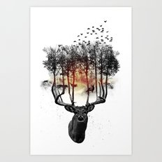 Ashes to ashes. Art Print