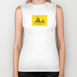 Dont tread on me or my son ever again Gadsden flag yellow Biker Tank