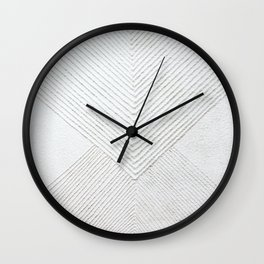 White Geometric Abstaction Wall Clock