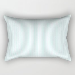 Duck Egg Pale Aqua Blue and White Vertical Nautical Sailor Stripe Rectangular Pillow